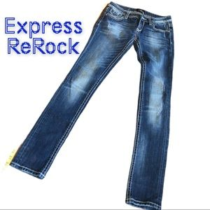 ReRock for Express Skinny distressed Jeans